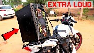 Fitting DJ Speaker On Our Bike | बाइक में लगाया डीजे | Very Loud Sound |