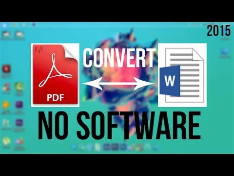 How To Convert Pdf To Word Document Online | 2015