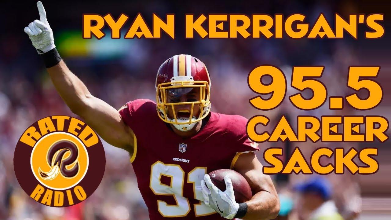 Ryan Kerrigan's 95.5 Career Sacks   2011-2020 Washington Redskins/Football Team Highlights