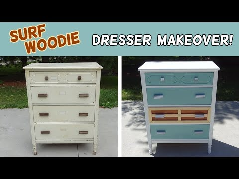 Surf Woodie Inspired Dresser Makeover!