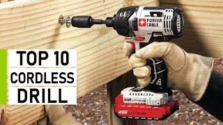 Top 10 Best Cordless Drill For DIY \u0026 Woodworking