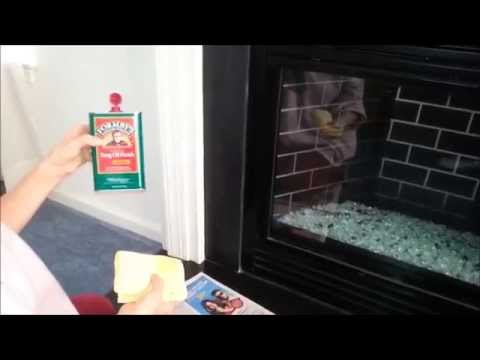 DIY How To Make Your Fireplace Slate Surround & Hearth Shine Like New Again.