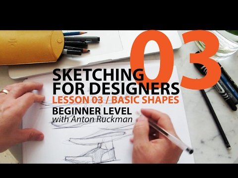 How to Draw. Sketching for Product Designers. Tutorial.BASIC SHAPES  Beginner01