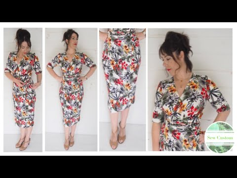 The Making of a Wrap Dress with Pleat Detail