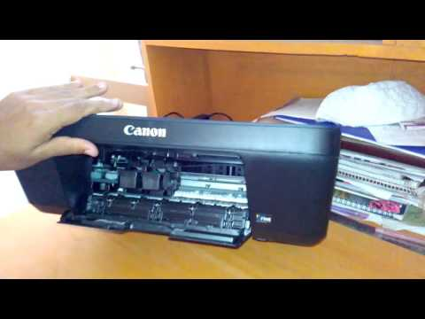 How to replace/change/open ink cartridge from canon pixma E400 printer