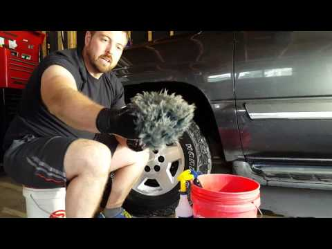Cleaning rims and tires