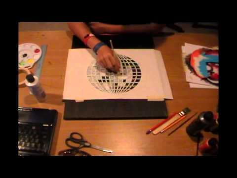 Painting an LCD Soundsystem Disco Ball