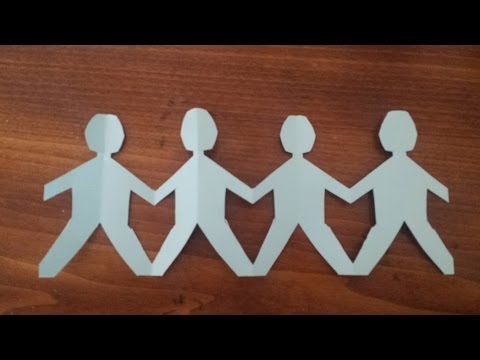 How to Make a Paper Family | Chain of People | Doll chain