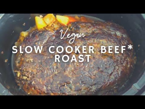 Slow Cooker Beef* Roast | How To Make Vegan Roast Beef | Korenn Rachelle