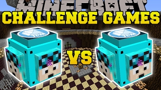 Minecraft: DANTDM VS THEDIAMONDMINECART CHALLENGE GAMES - Lucky Block Mod - Modded Mini-Game