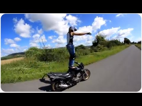 Freestyle Moto Tricks | Biker Chick Sarah Lezito