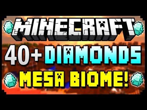 ★ Minecraft 1.8.3 Seeds - 40+ DIAMONDS, MESA BIOME & VILLAGE AT SPAWN! - Best Minecraft Seed