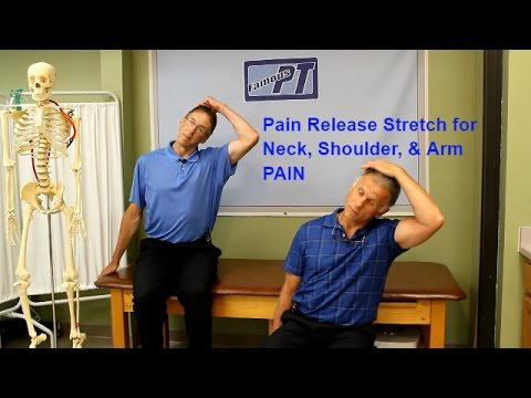 Neck Shoulder & Arm Pain Release Stretch-give it a try to see if it helps