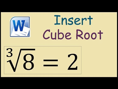 How to type cube root in Word