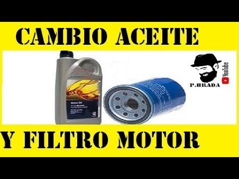 Cambio aceite y filtro motor en un coche