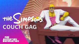 LA-Z Rider Couch Gag From Guest Animator Steve Cutts | Season 27 | THE SIMPSONS
