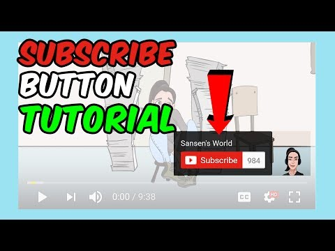 TUTORIAL: How to add SUBSCRIBE button to your YouTube videos (2017)
