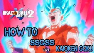 Dragon ball xenoverse 2  XB1  SSGSS Kaioken Goku  Combo video