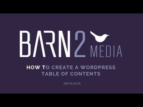 How to Create a WordPress Table of Contents