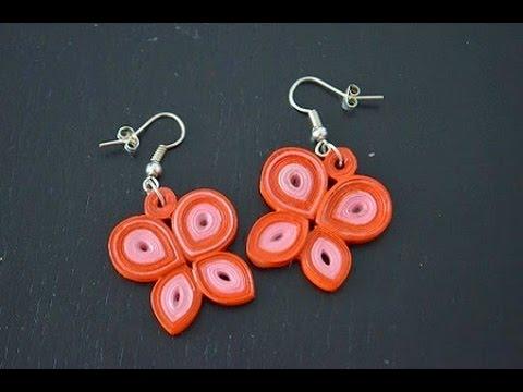 Quilling butterfly earrings