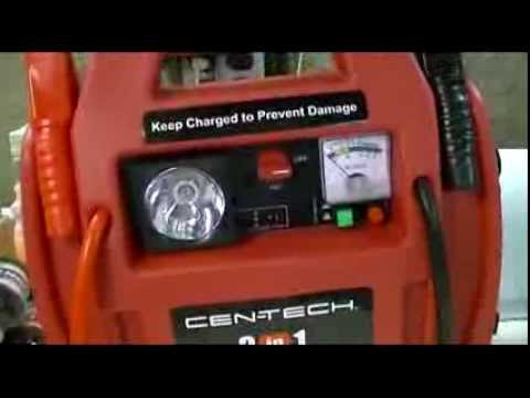 Harbor Freight - Cen-Tech 3-In-1 Portable Power Pack With Jump Starter Review