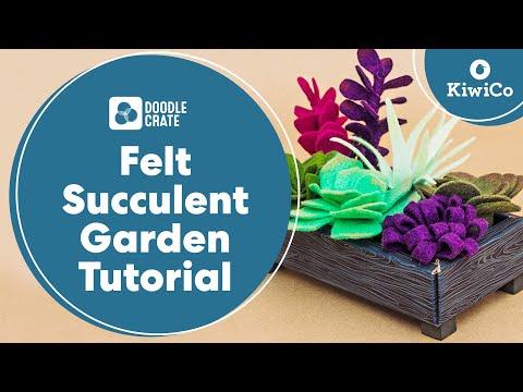 Felt Succulent Garden - Doodle Crate Project