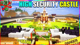 Security system in techno gamerz Minecraft castle | Minecraft Hindi gameplay
