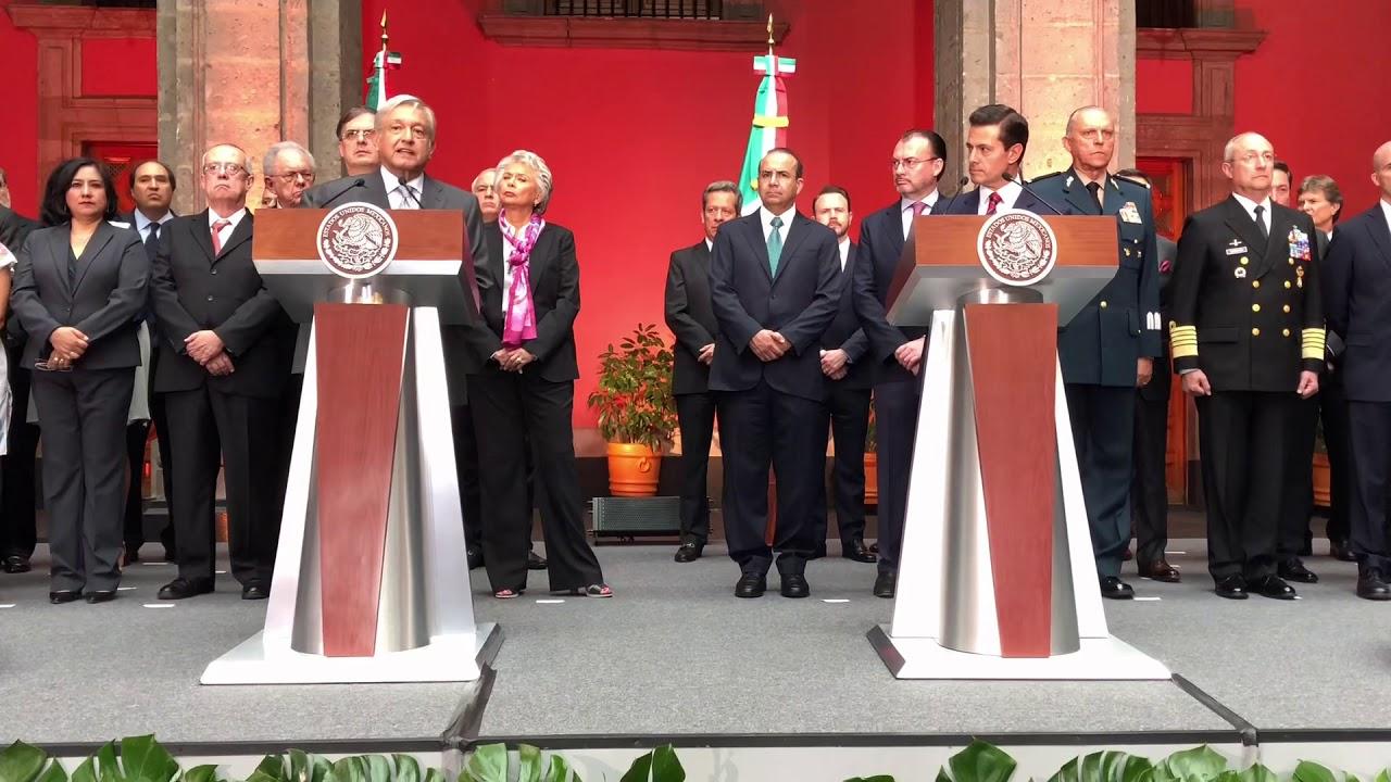 Conferencia conjunta AMLO-Peña Nieto