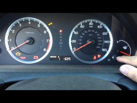 Reset Oil Maintenance Light - 2008 to 2009 Honda Accord