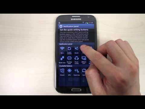 How to customize notification panel on Samsung Galaxy Note 2