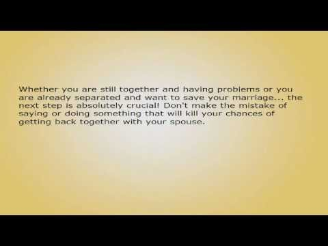 Is Your Marriage Heading to Divorce Court? How to Convince Your Spouse to Stay Married?.avi