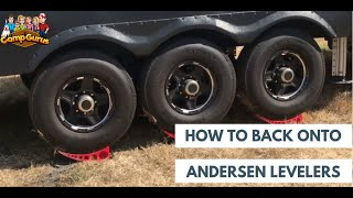 👉🏻how To: Back Onto The Andersen Levelers And Chock Them