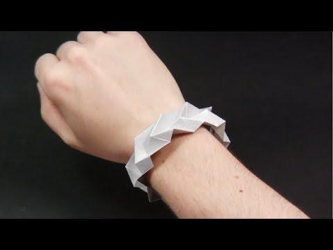 ❤Origami EASY BRACELET ❤ IN ENGLISH ✓ - Yakomoga Easy Origami tutorial