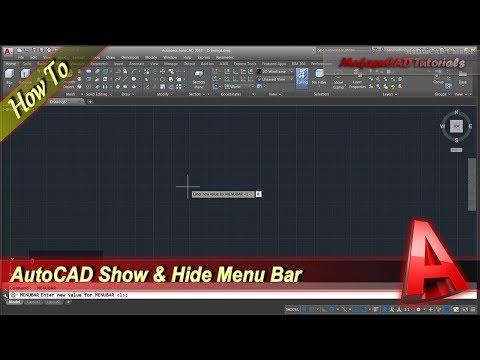 Autocad Tutorial Show And Hide Menu Bar