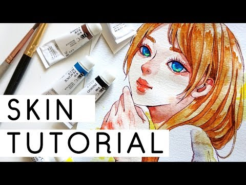 Skin Watercolor Coloring Tutorial