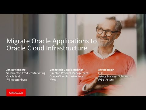 Migrate Oracle Applications to Oracle Cloud Infrastructure