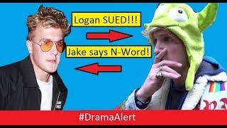 Jake Paul says N-Word! #DramaAlert Logan Paul SUED! & Roasted by Maze Runner!