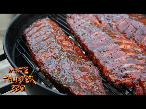 Smoked Baby Back Ribs Recipe | Easy Frog Bone Baby Back Ribs on a Weber Grill with the Smokenator