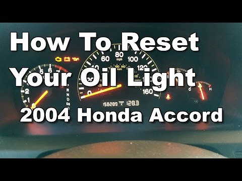 How To Reset Your Oil Light - 2004 Honda Accord