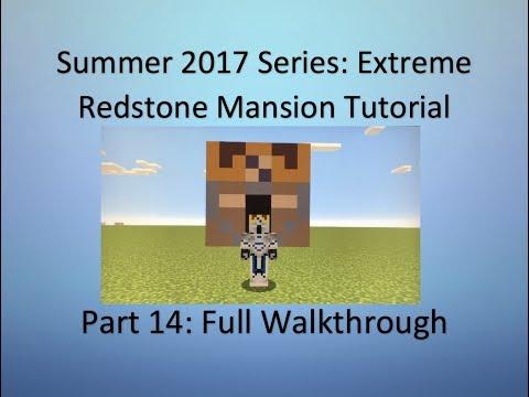 Extreme Redstone Mansion Tutorial Part #14 - Full Walkthrough