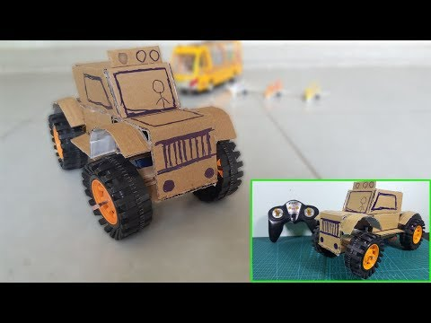 How to make a Remote Control  MonsterTruck from Cardboard - Drift Vession - Part 2