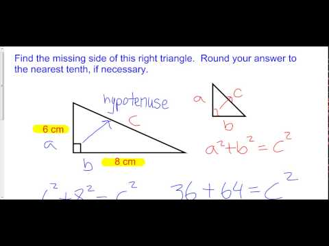 Finding a Missing Hypotenuse in a Right Triangle