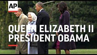 Obama meets Queen Elizabeth II