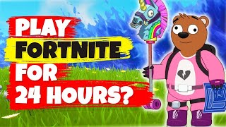 What If You Played Fortnite Battle Royale For 24 Hours - FUNNY ANIMATION CHALLENGE