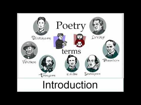 Poetry Terms: Introduction