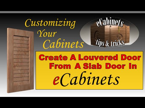 Create a louvered door from a slab door