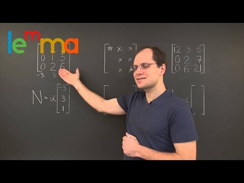 Linear Algebra 7g: The Nullspace of a 3x3 Matrix with a Specific Pattern