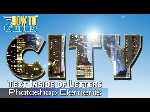 How to put a Picture inside Text in Adobe Photoshop Elements 2018 15 14 13 12 11 Tutorial