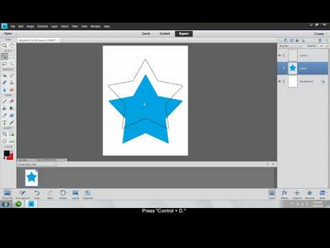 Outline and Merge in Photoshop Elements 11