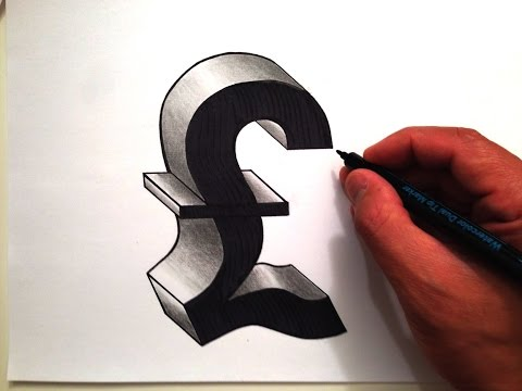 How to Draw the British Pound in 3D